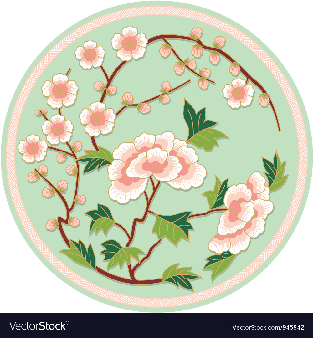 Chinese Traditional Floral Pattern Royalty Free Vector Image