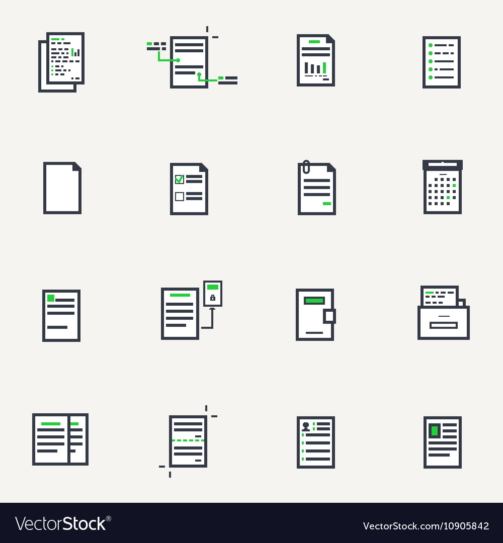 Document line icons