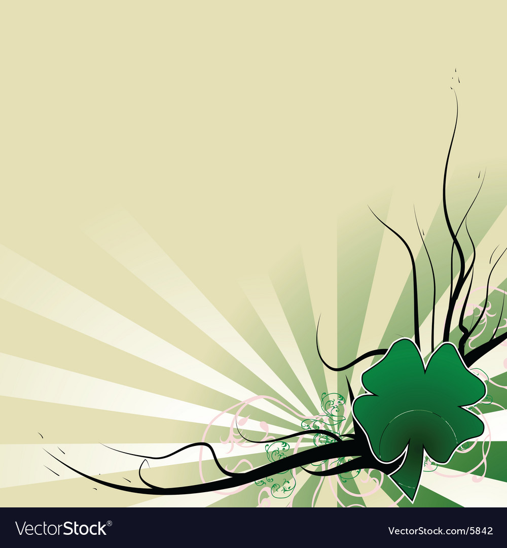 four leaf clover template royalty free vector image