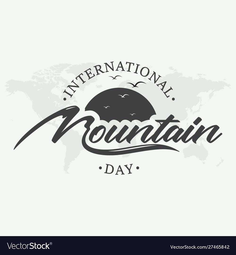 Letter international mountain day creative emblem