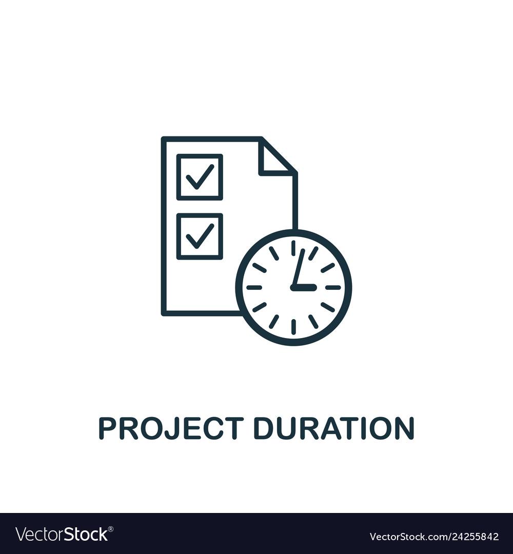 Project duration icon creative element design