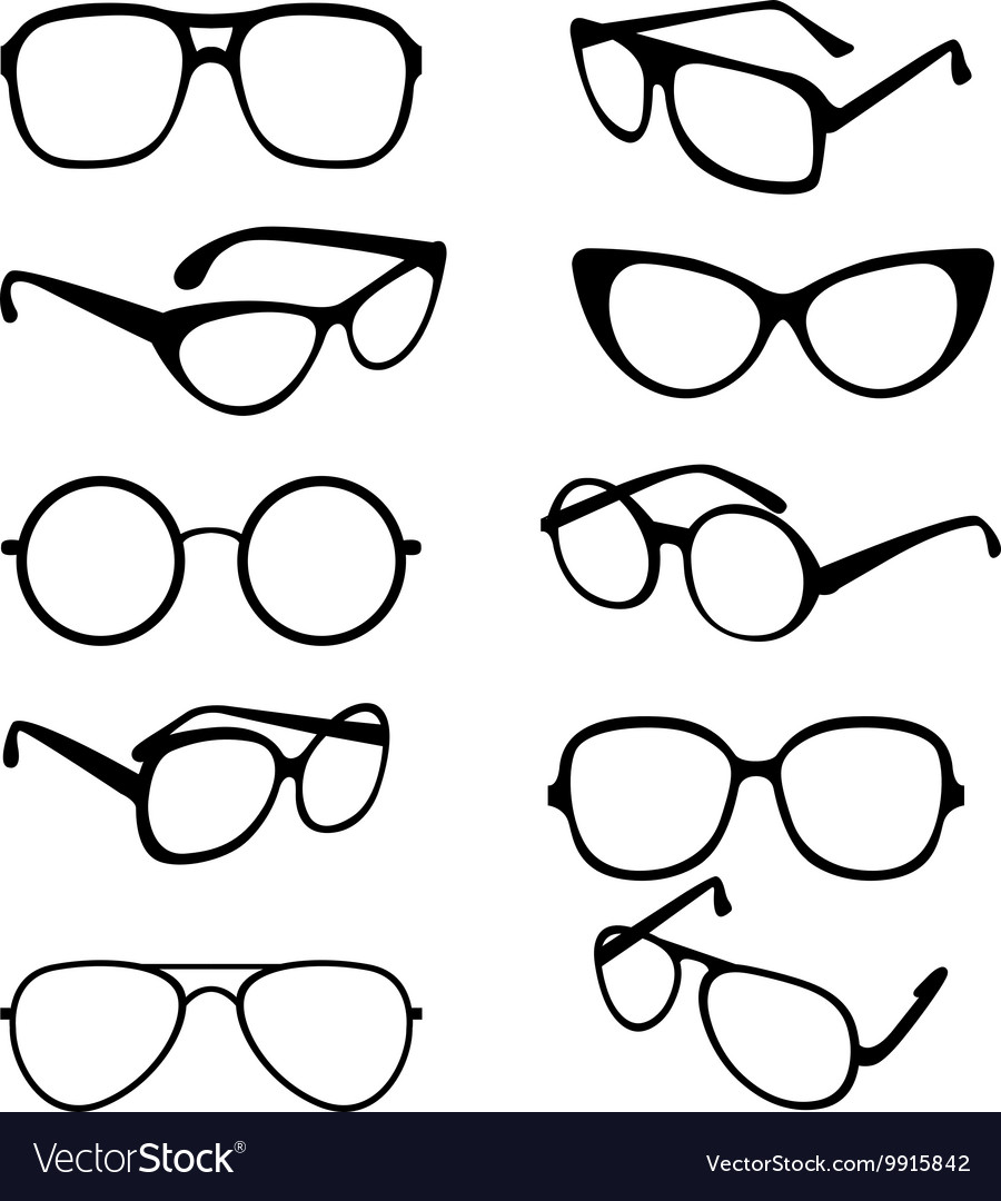 9000265a6f Set black of sunglasses frames royalty free vector image jpg 900x1080 Glasses  frames vector