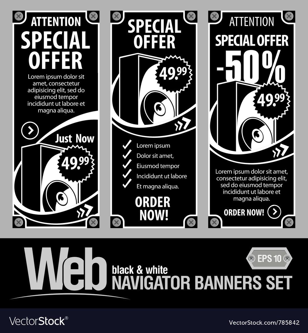 Special offer banner set
