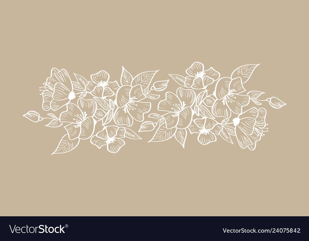 Spring floral frame ornament scandinavian