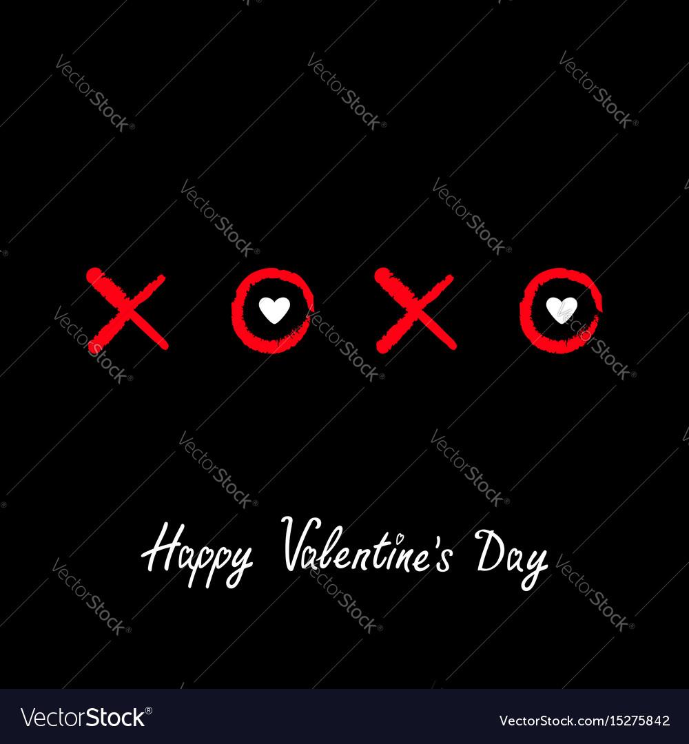 Xoxo hugs and kisses sign symbol mark love red