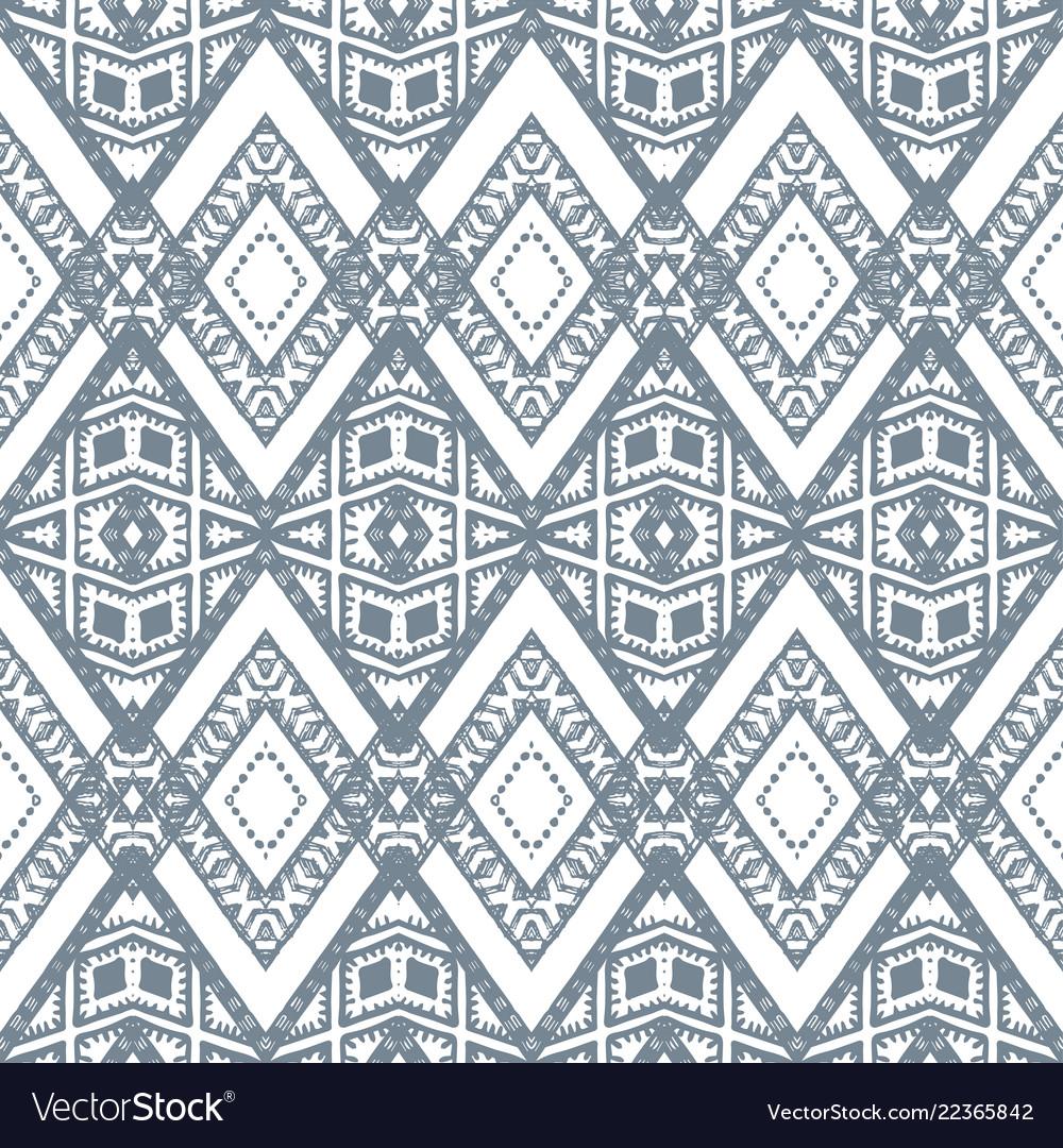 Zigzag silver geometric pattern