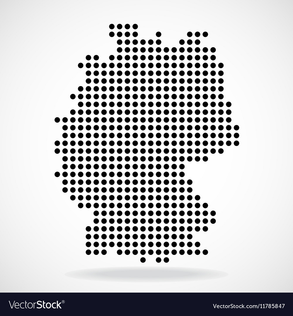 Abstract map of Germany from round dots