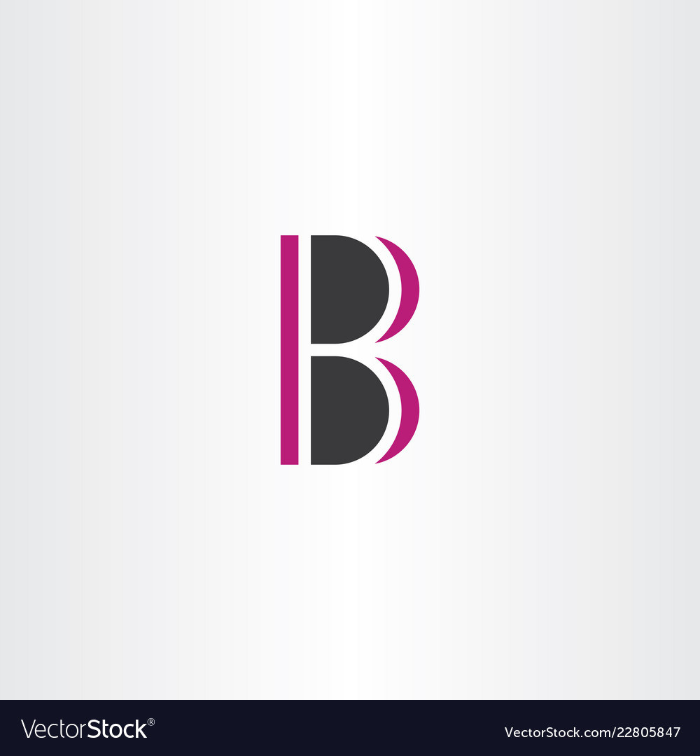 B logo sign element symbol letter