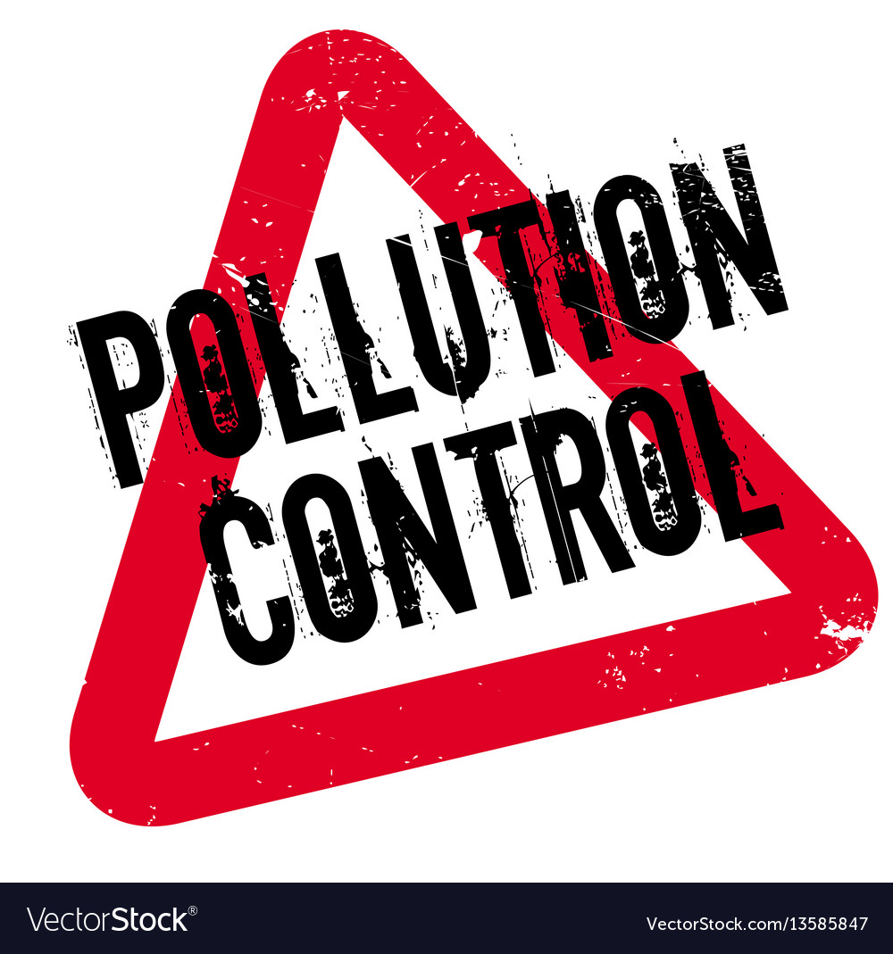 Pollution control rubber stamp