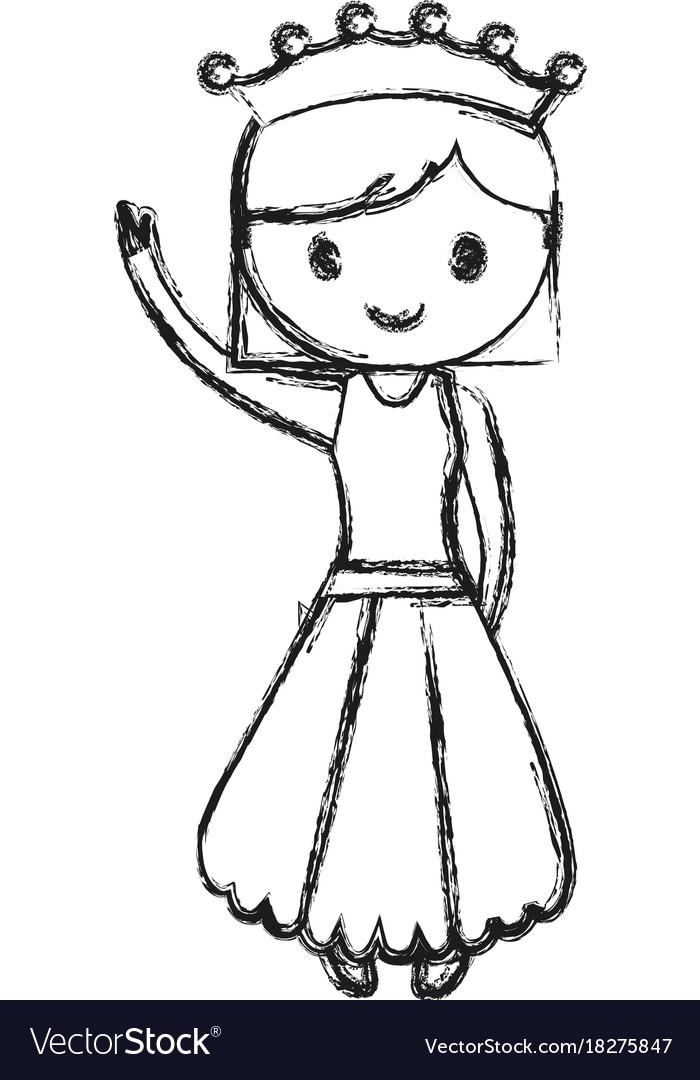 Princess girl icon
