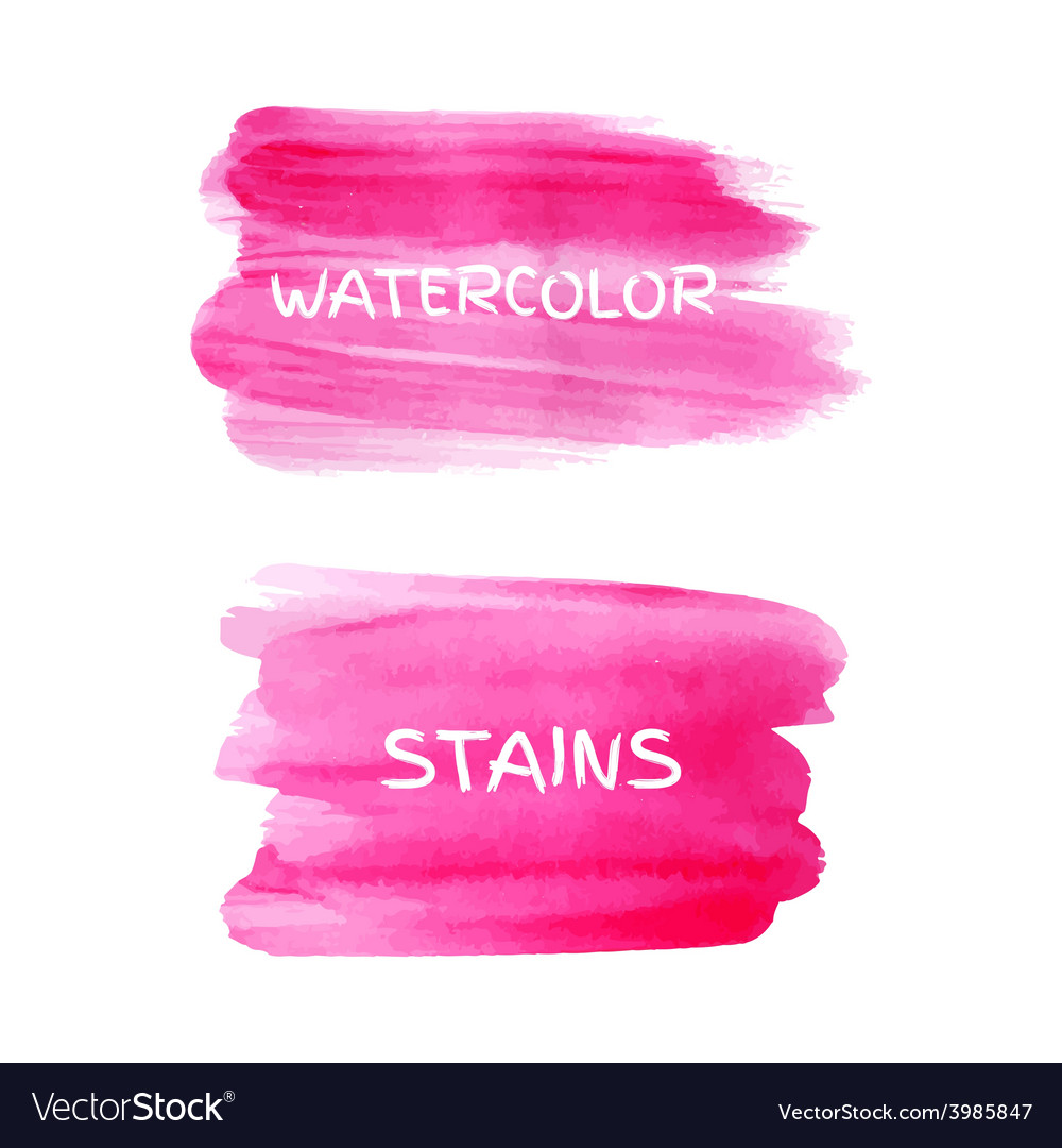 Set watercolor stains