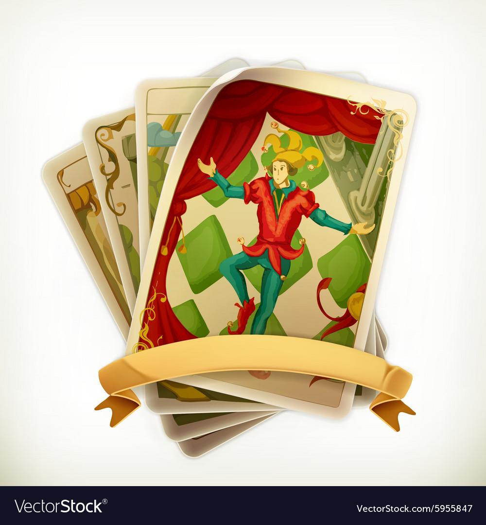 Tarot vintage icon vector image