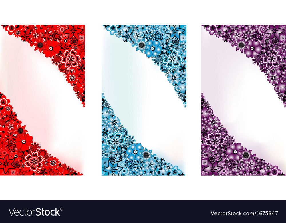 Three flower backgrounds
