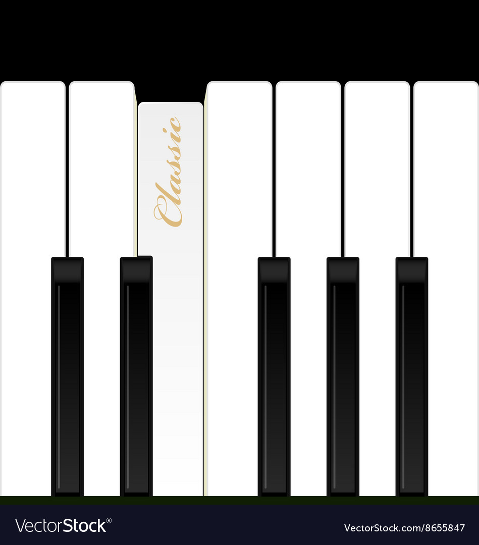 Top view piano keys Musical instrument