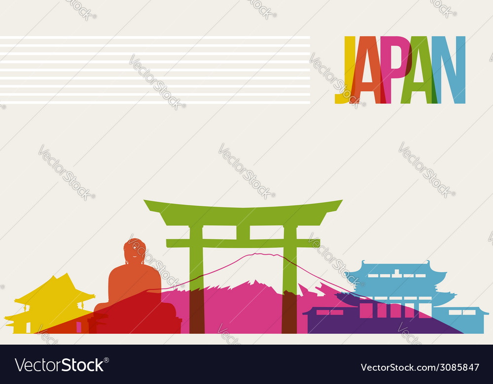 Travel Japan destination landmarks skyline