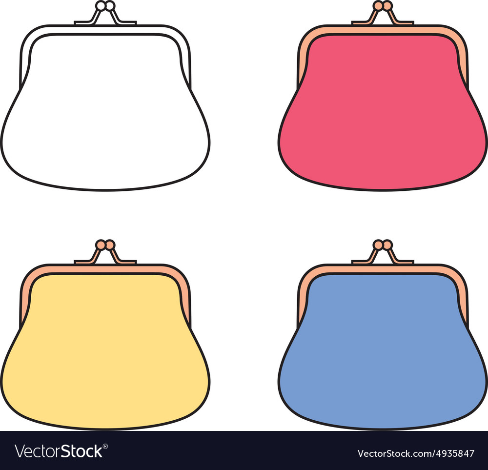 8f7a900b47e7 womens purse royalty free vector image vectorstockwomens purse vector image