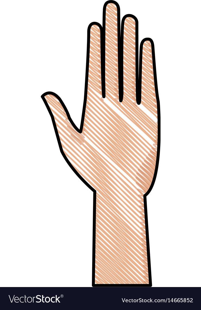 Drawing human hand health care medical design