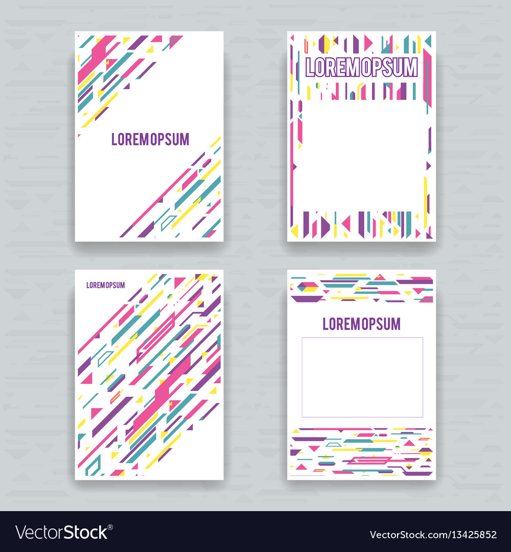Flyer brochure cover poster set a4 abstract vector image