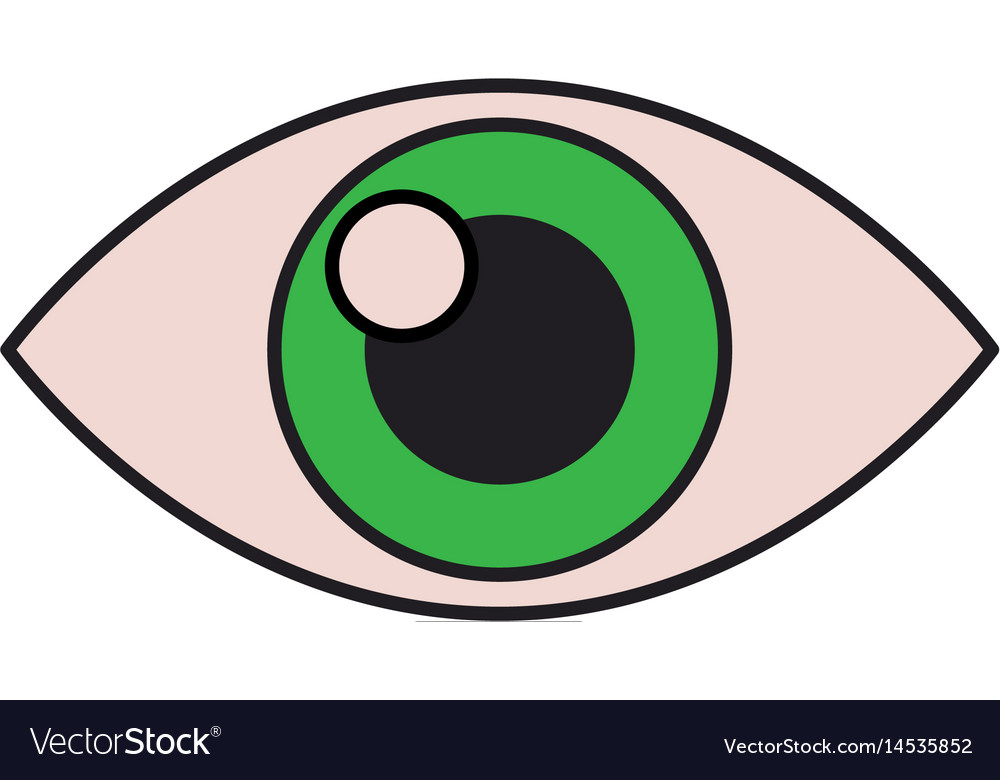 a4192fa6318 Human eye vision optical look design Royalty Free Vector