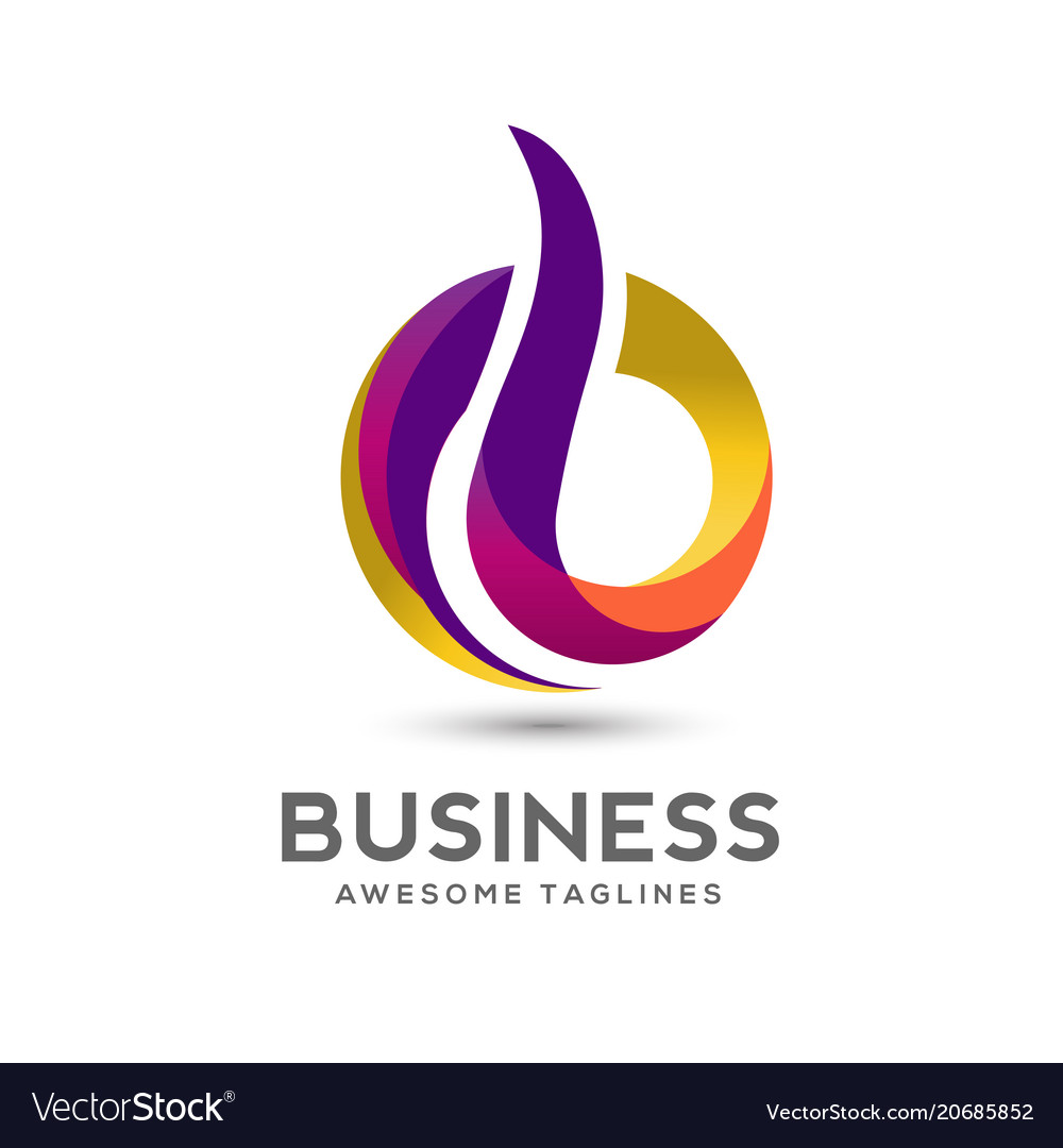 Letter b colorful logo