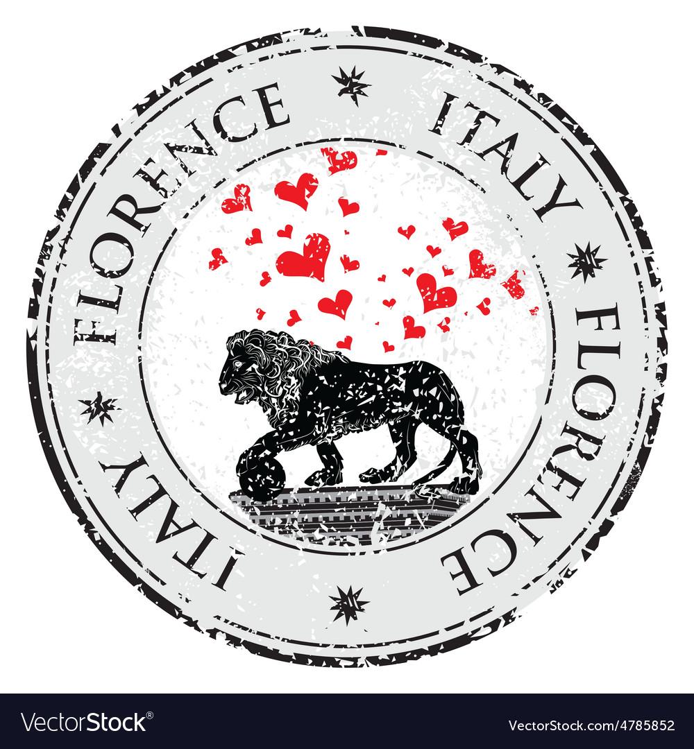 Love heart travel destination grunge rubber stamp