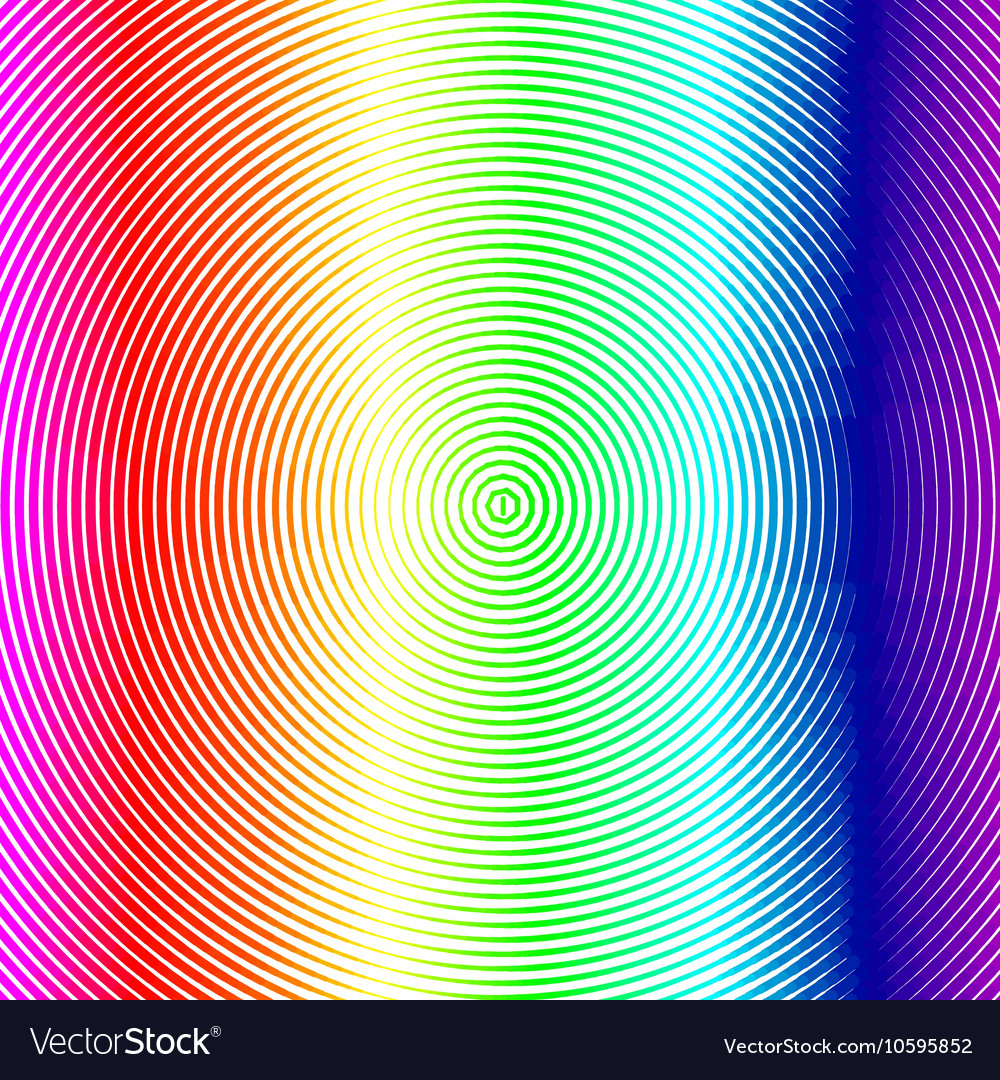 Radial colorful background with rainbow dots