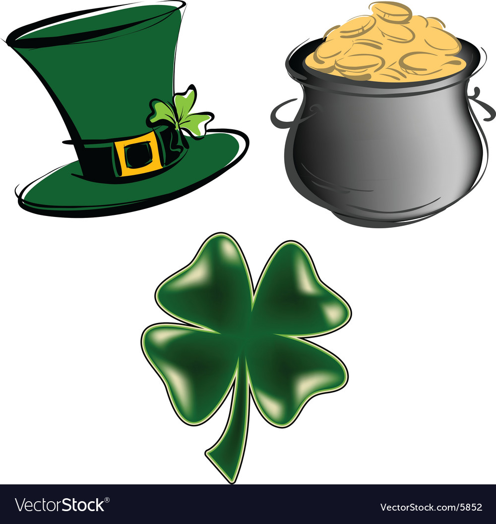 St Patrick S Day Items Vector Image