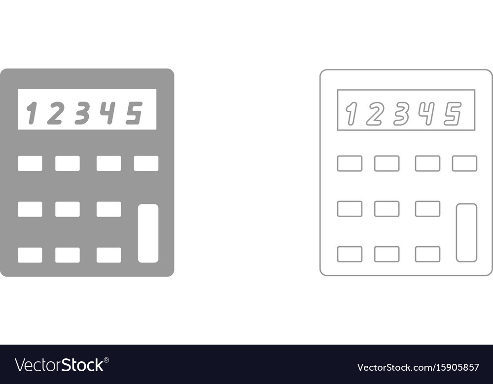 Calculator the grey set icon