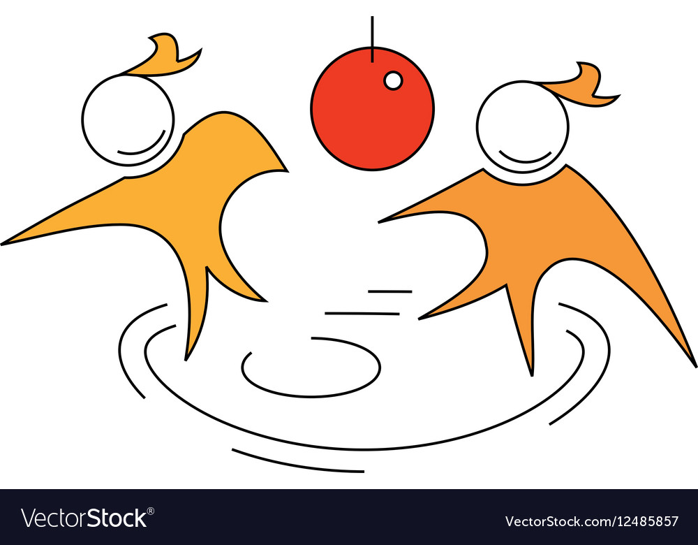 Discotheque abstract with two people dancing aroun vector image