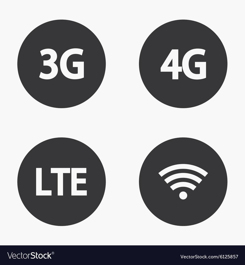 Modern mobile internet icons set