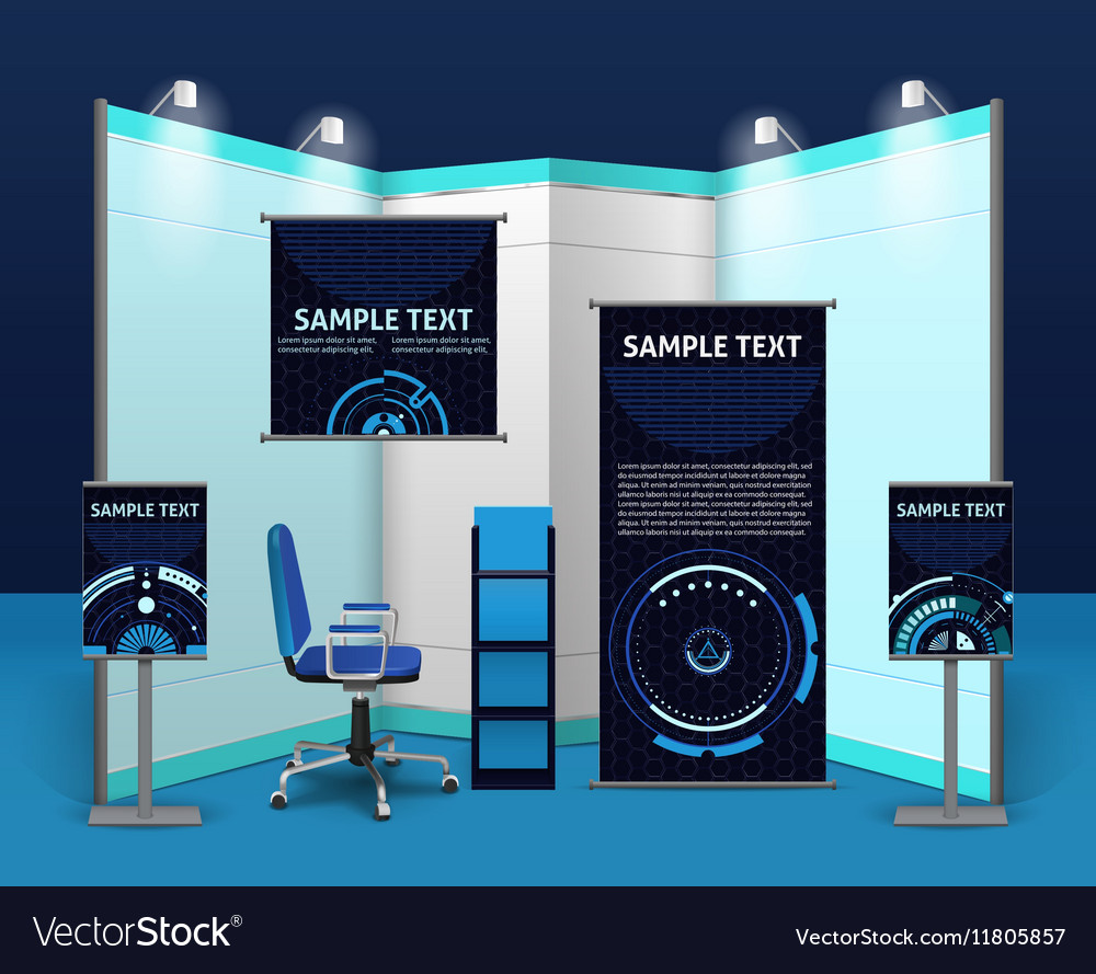 Exhibition Stand Template : Promotional exhibition stand template royalty free vector