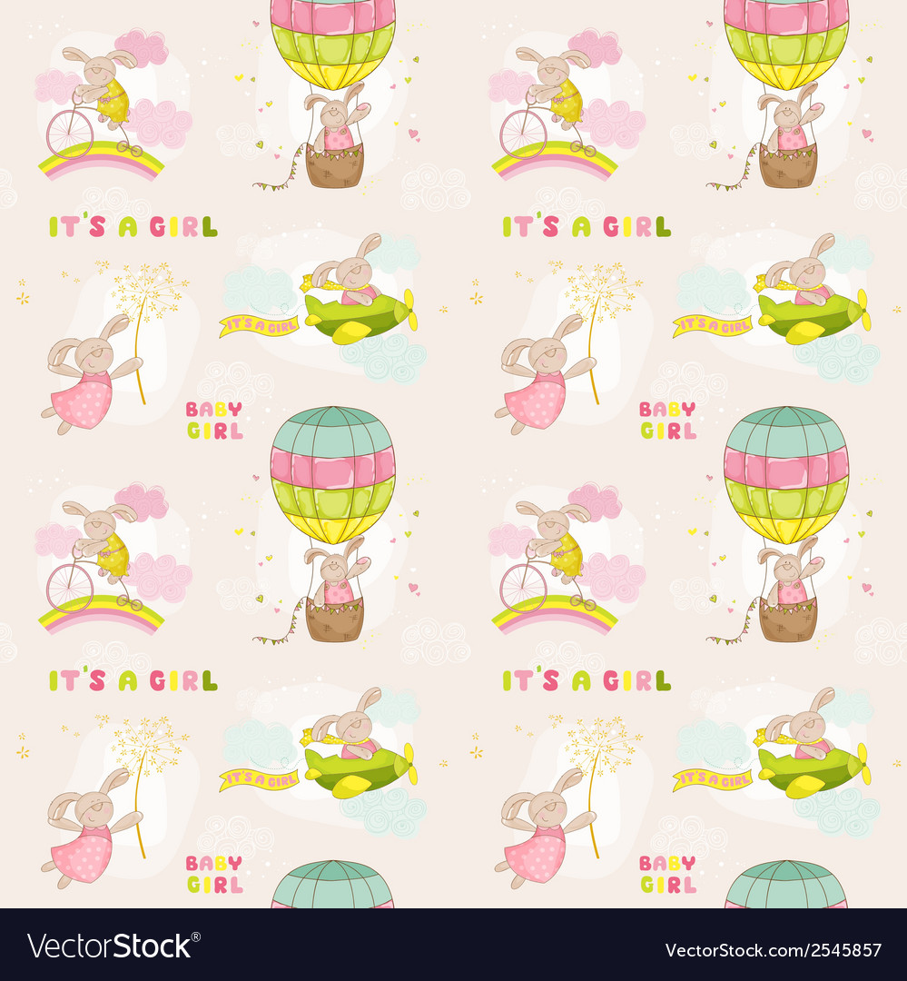 Seamless baby bunny background