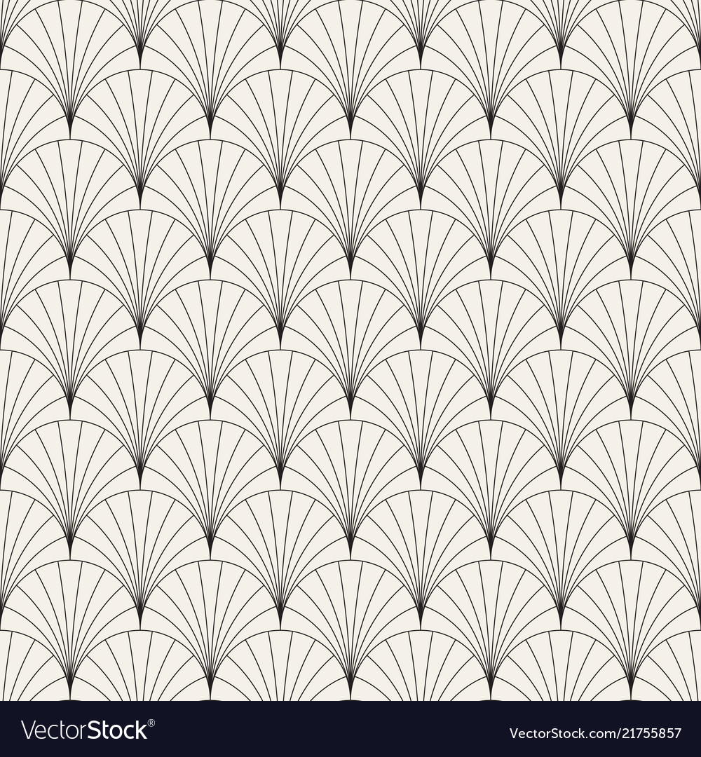 Seamless vintage pattern of overlapping arcs in