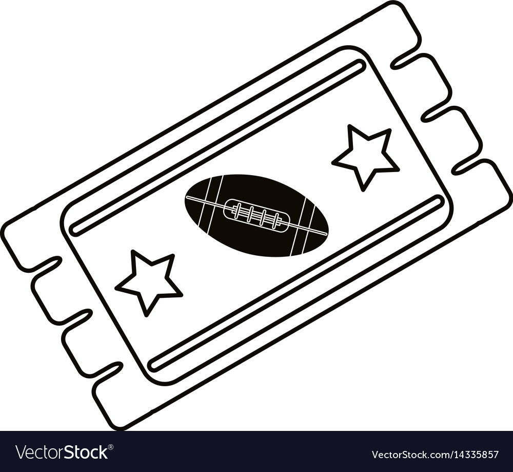 Ticket Game American Football Icon Outline Vector Image - Game outline