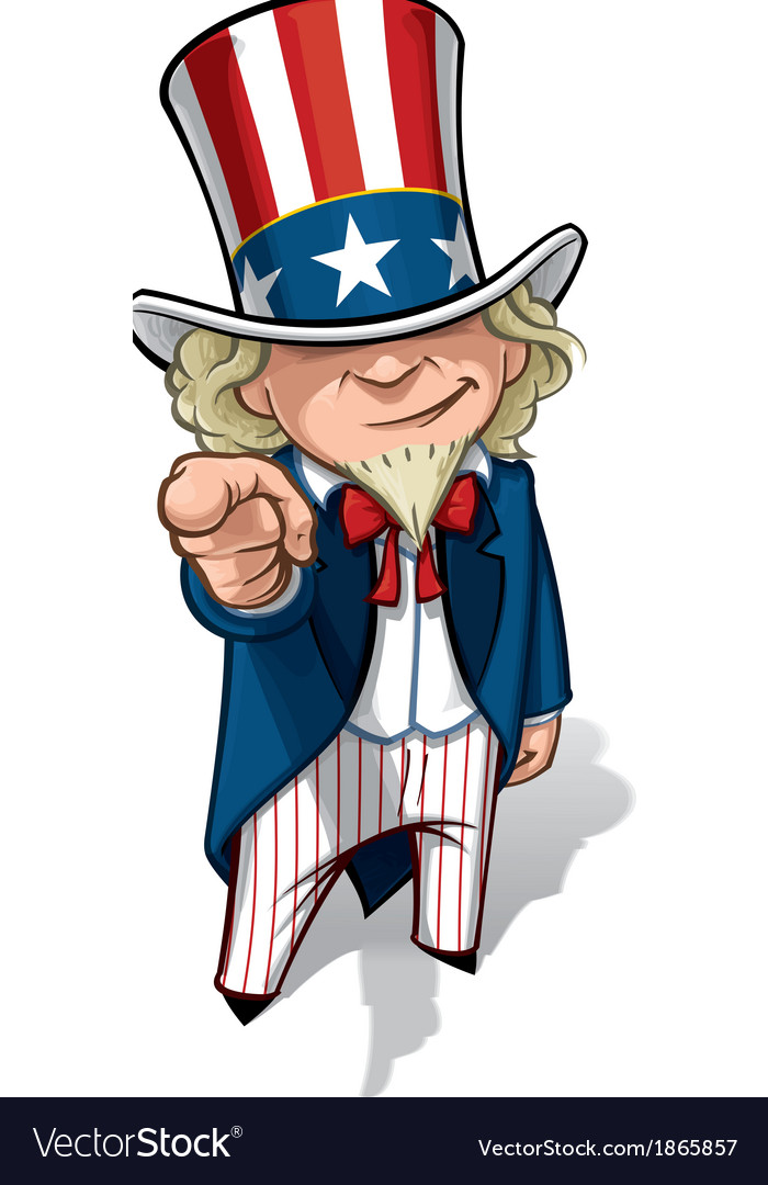Uncle Sam I Want You vector image