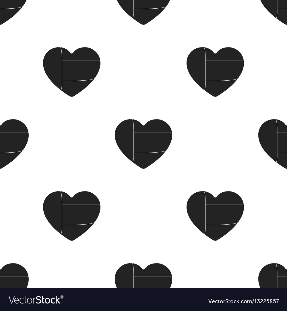 United arab emirates heart icon in black style vector image