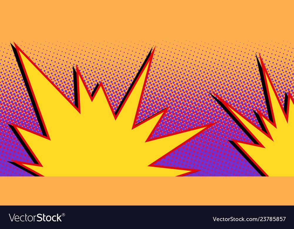Yellow explosion comic cloud