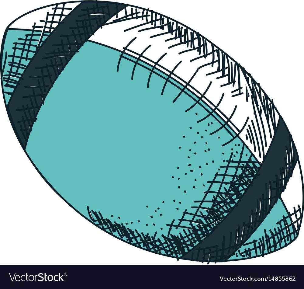 American football balloon icon