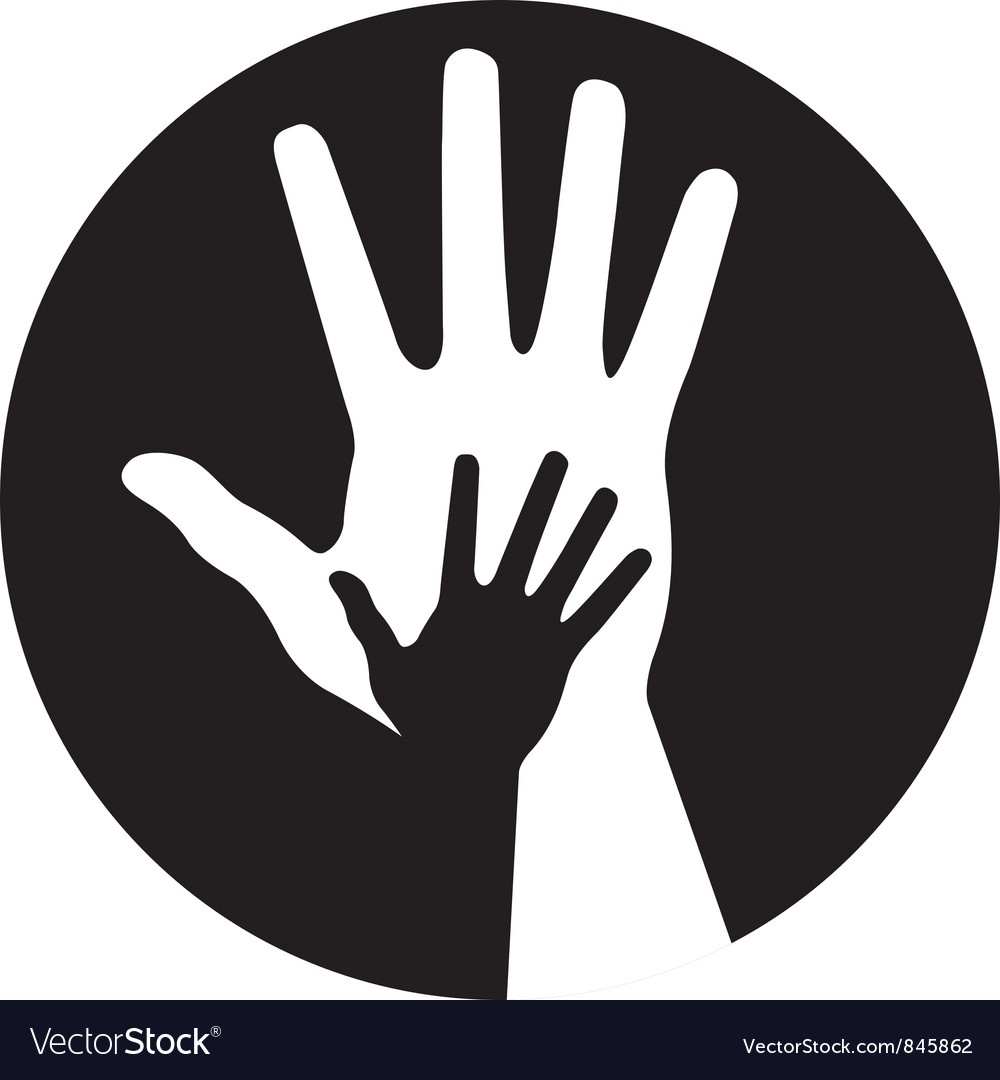 Caring hands icon