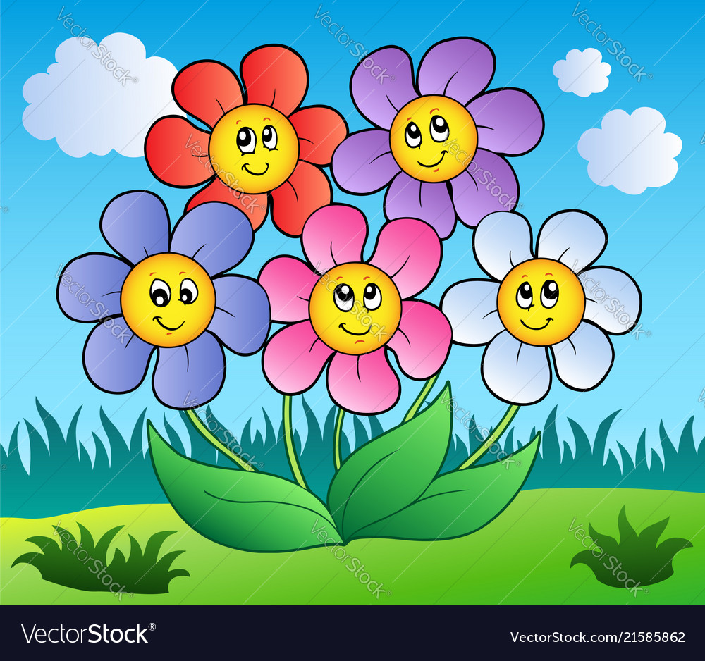 Cartoon Nature Flowers Flowers Healthy