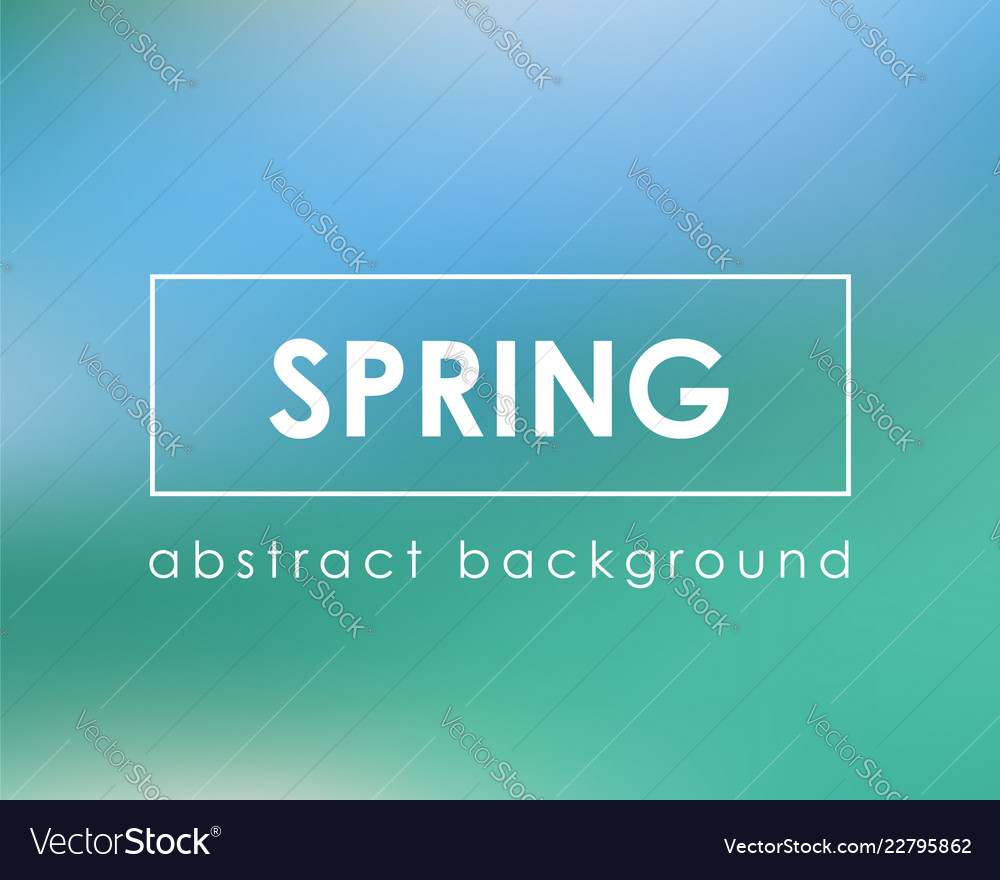 Fresh green blue spring card background