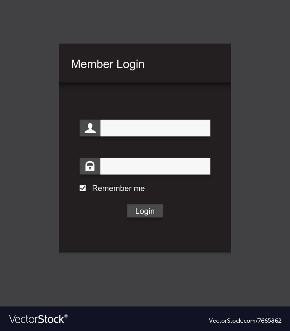 Member login design