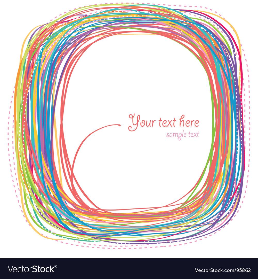 Rainbow curves vector image