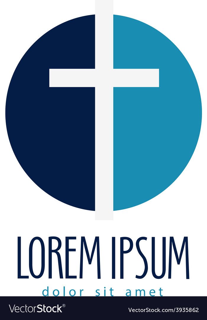 Religion logo design template crucifixion
