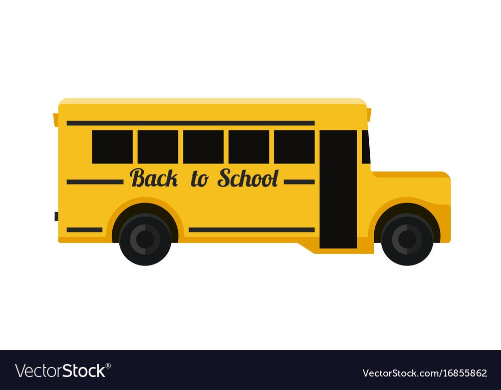 School bus flat