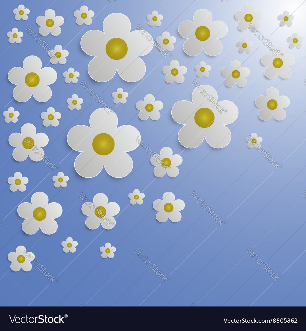 Summer Flower Paper Background Royalty Free Vector Image