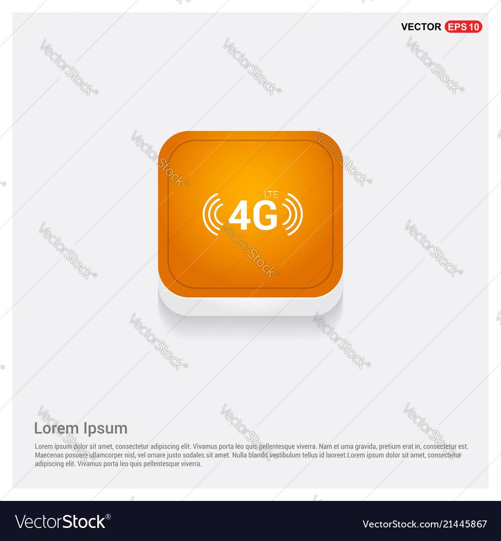 4g icon orange abstract web button