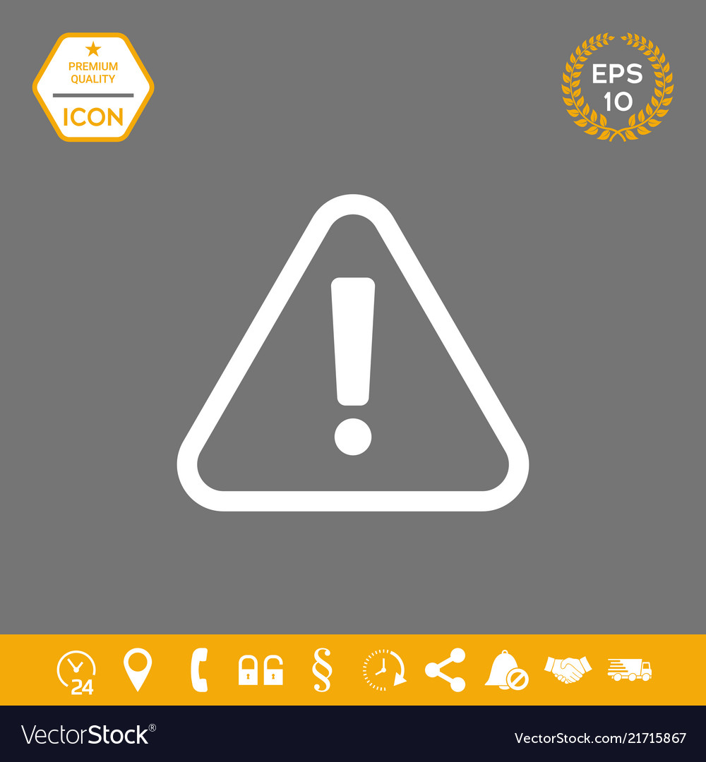 Attention icon symbol graphic elements for your