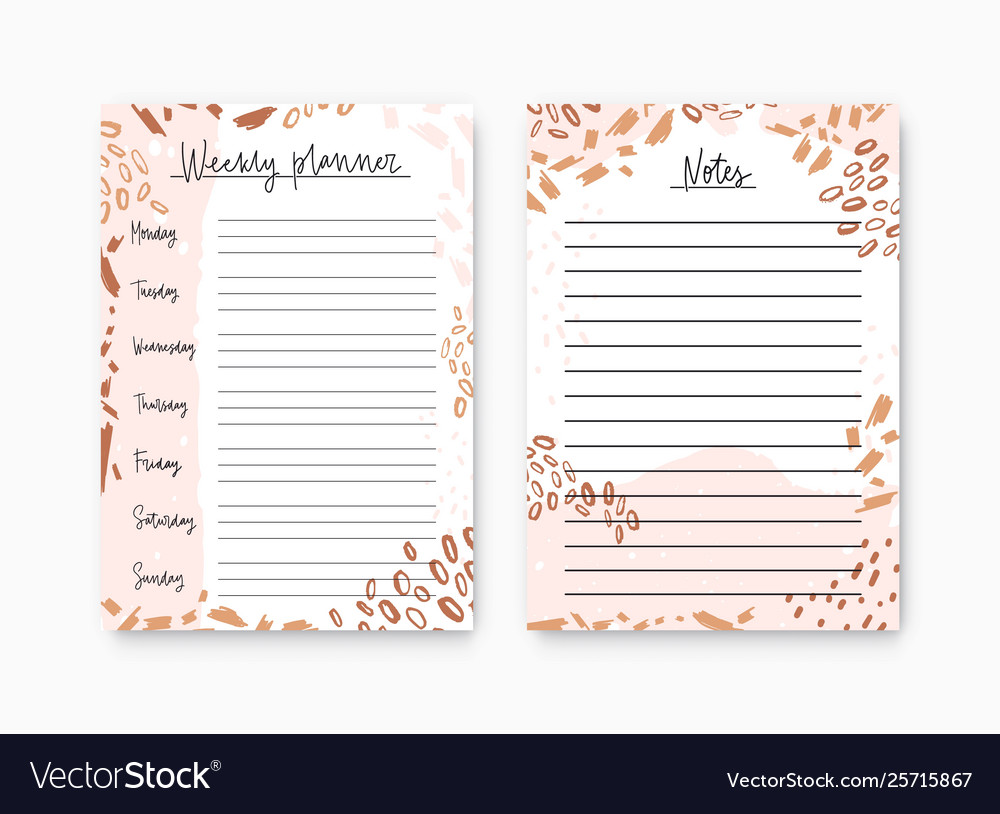 image relating to Weekly Planner Page known as Deal weekly planner and notes web page templates