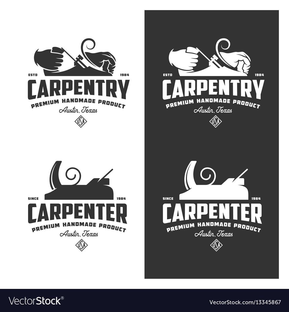 Carpentry vintage labels set
